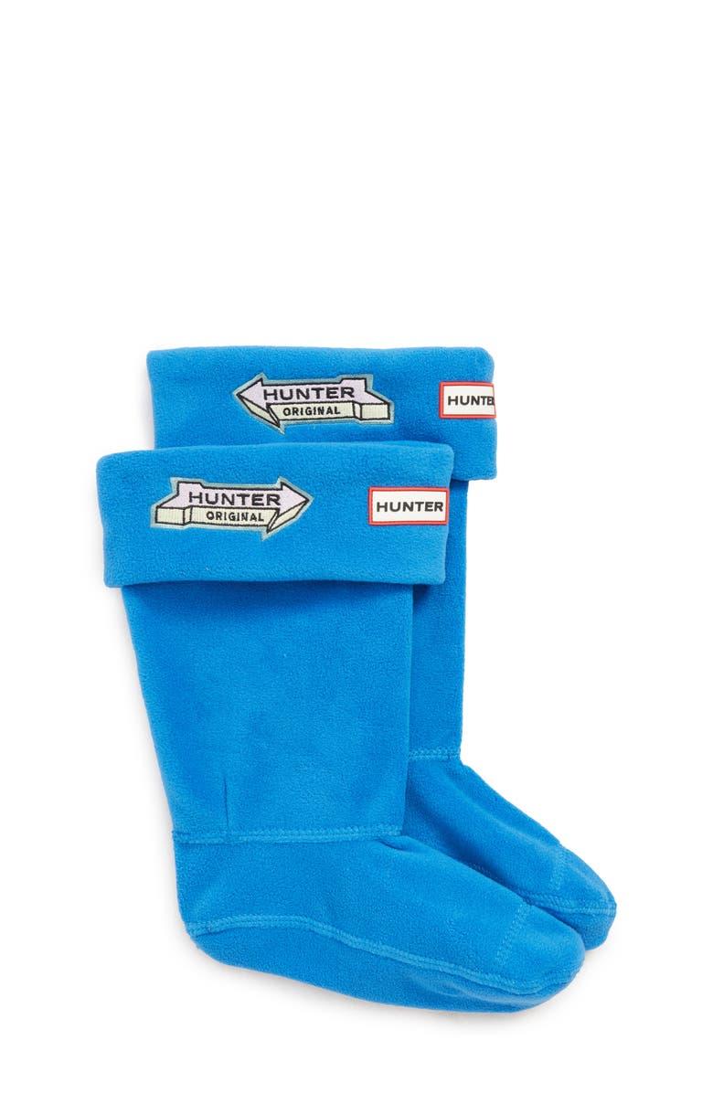 HUNTER Fleece Cuff Boot Socks, Main, color, BUCKET BLUE