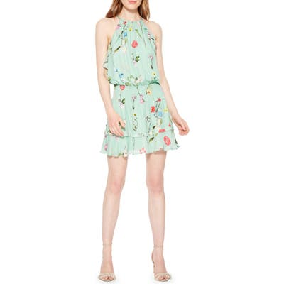 Parker Williame Floral Halter Dress, Green