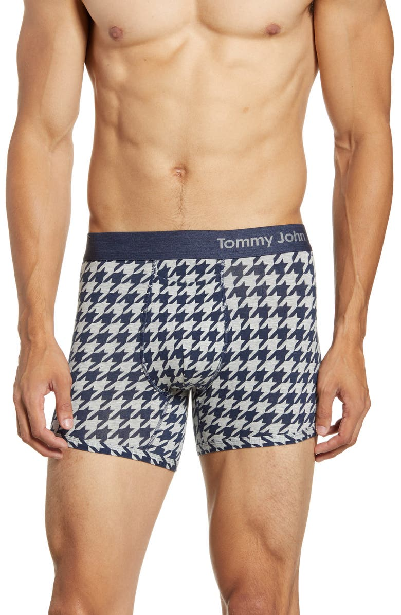 TOMMY JOHN Print Trunks, Main, color, HOUNDSTOOTH DRESS BLUES