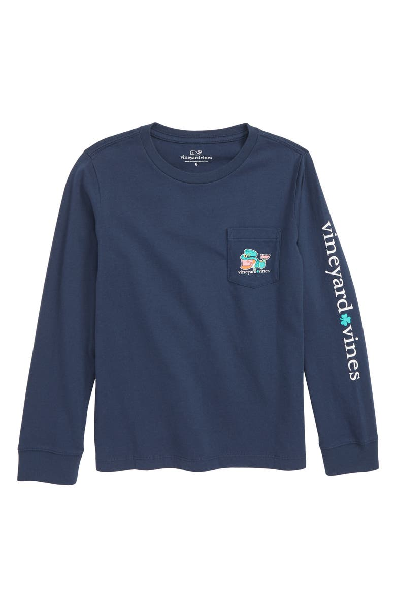 VINEYARD VINES Kiss Me I'm Irish Pocket T-Shirt, Main, color, 406