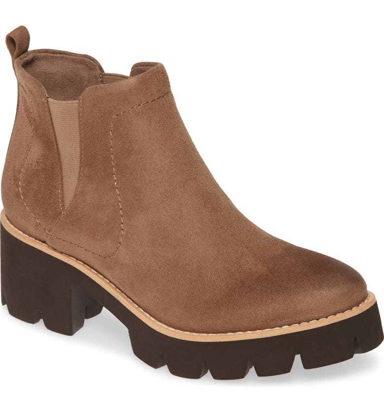 BC FOOTWEAR Fight For Your Right Vegan Leather Bootie, Main, color, DARK TAUPE FABRIC