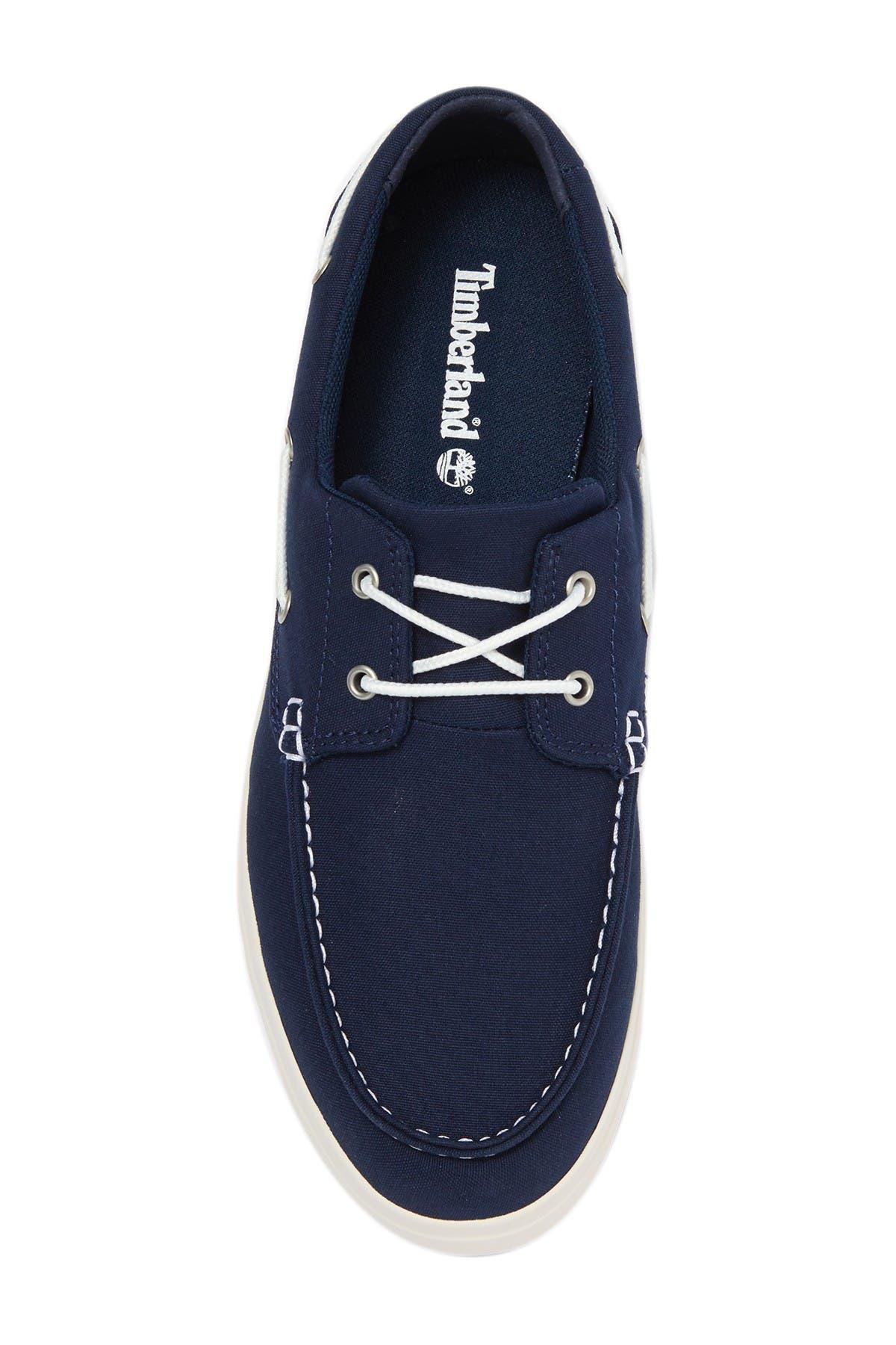 Timberland Bayham Canvas Boat Shoes Black Size 11.5