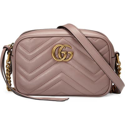 Gucci Matelasse Leather Shoulder Bag - Beige