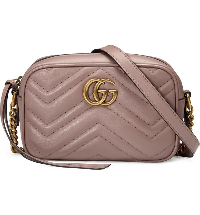 GUCCI Matelassé Leather Shoulder Bag, Main, color, PORCELAIN ROSE/ PORCELAIN ROSE