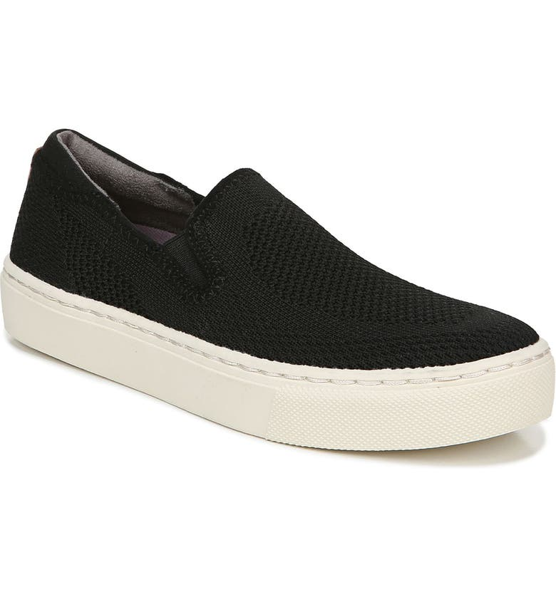 DR. SCHOLL'S No Chill Knit Slip-On Sneaker, Main, color, BLACK FABRIC