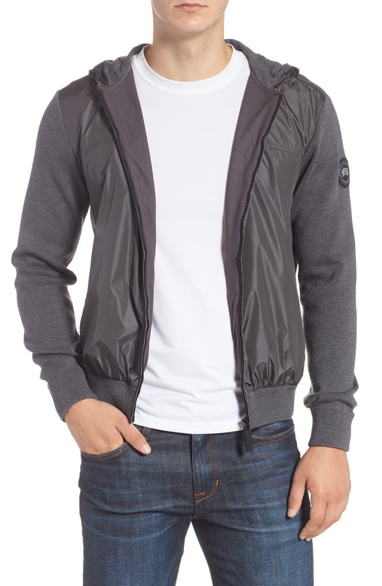 CANADA GOOSE Windbridge Hooded Sweater Jacket, Main, color, IRON GREY