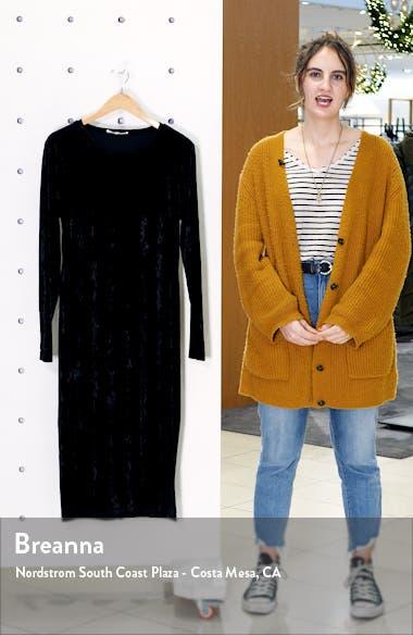 Side Slit Long Sleeve Velvet Dress, sales video thumbnail