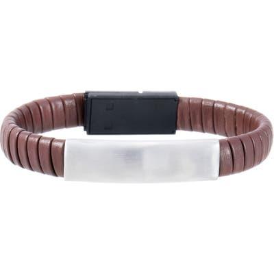 Ben Sherman Leather Usb Charger Bracelet