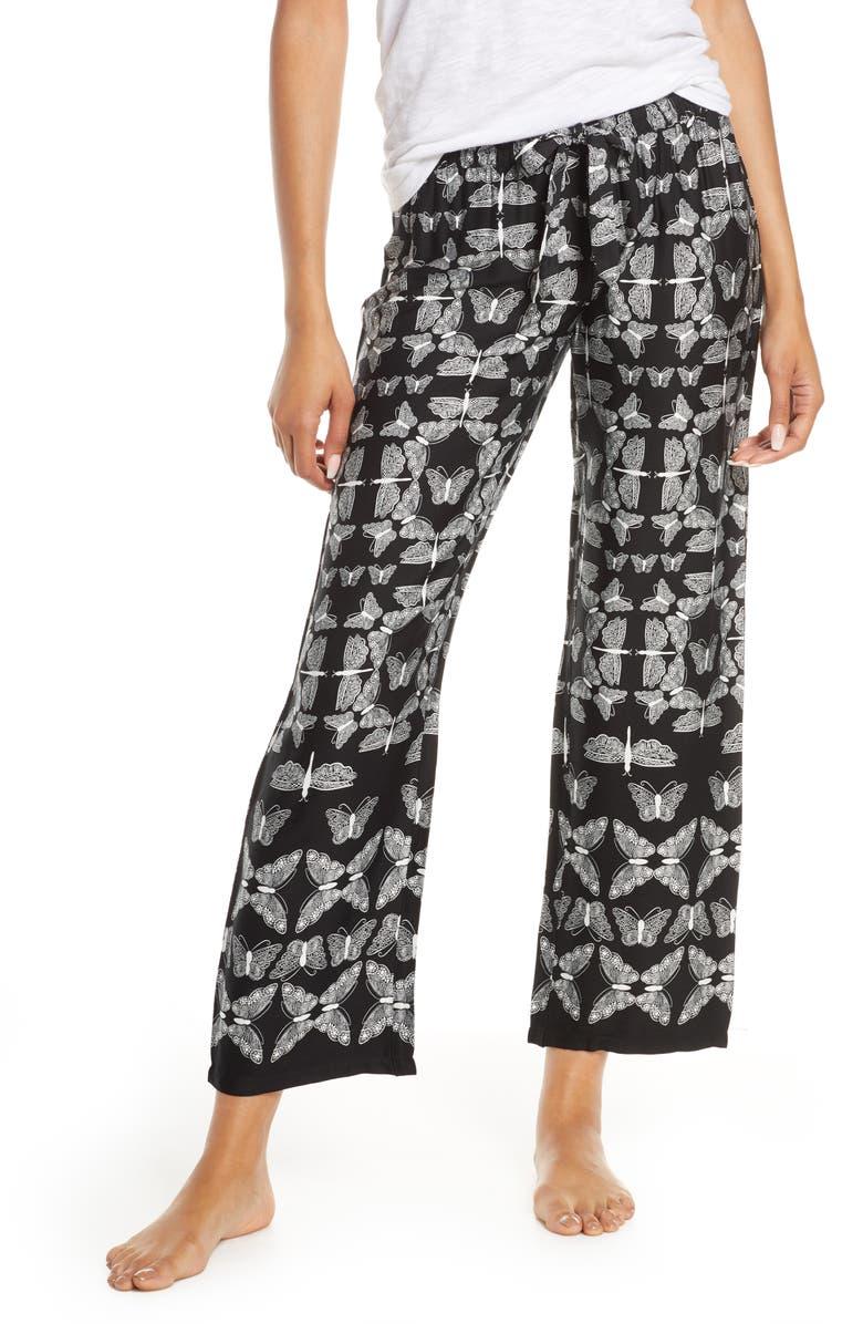 PJ SALVAGE Runway Pants, Main, color, BLACK