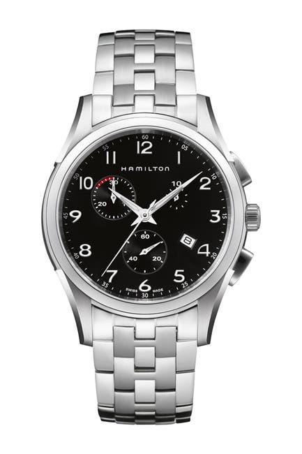 Image of Hamilton Men's Jazzmaster Thinline Chronograph Bracelet Watch, 43mm