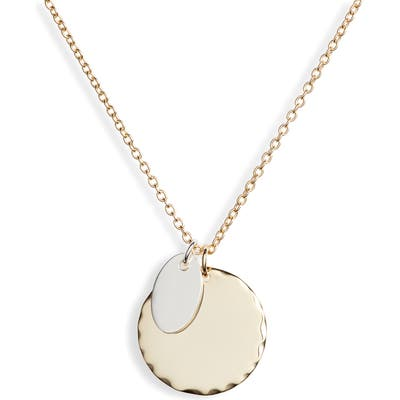Argento Vivo Two-Tone Sterling Circle Pendant Necklace