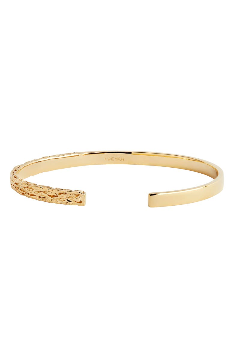 MARIA BLACK Bridge Cuff Bracelet, Main, color, YELLOW GOLD