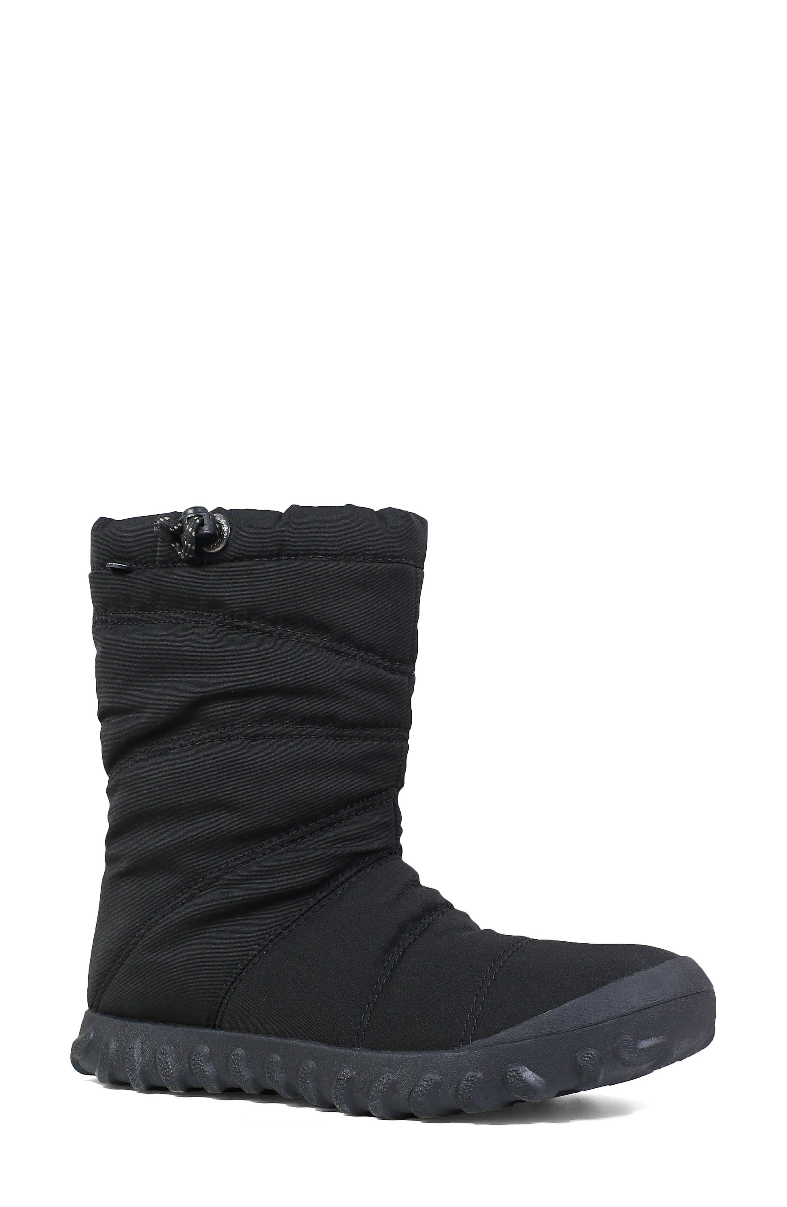 Bogs Puffy Insulated Waterproof Boot, Black