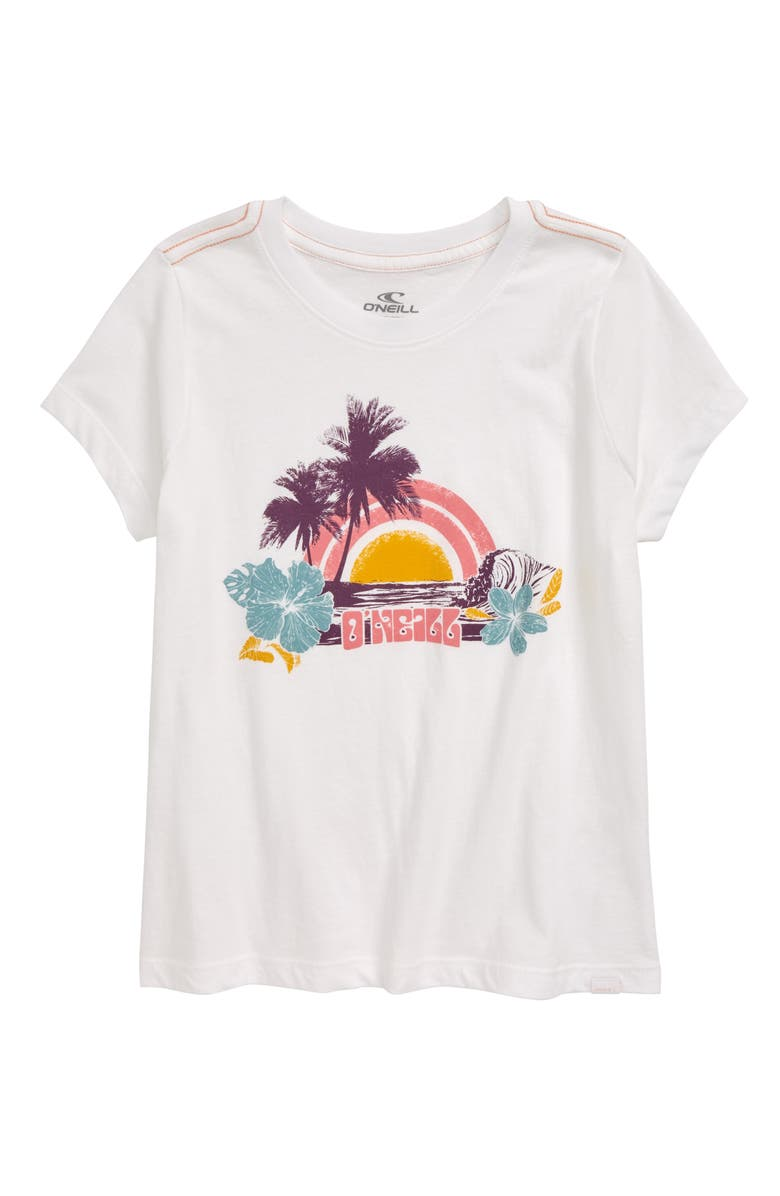 O'NEILL Tropical Vacay Graphic Tee, Main, color, WHITE