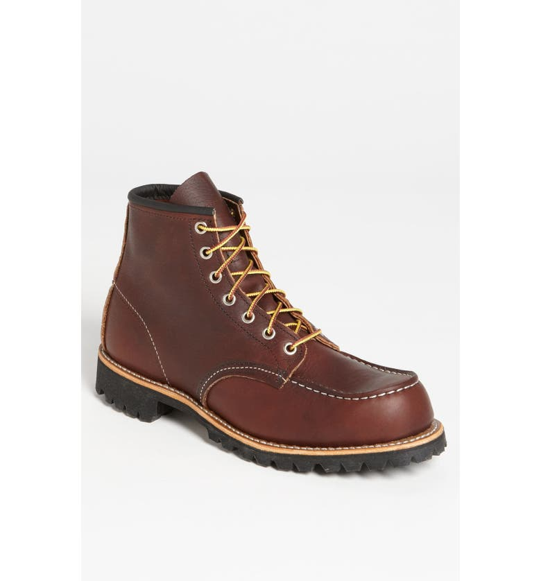 RED WING Moc Toe Boot, Main, color, 200