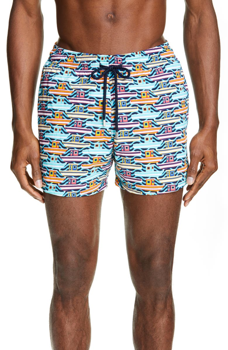 VILEBREQUIN Mykonos Swim Trunks, Main, color, BLEU TROPEZIEN