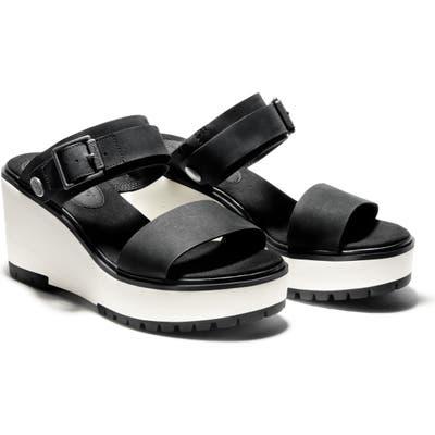 Timberland Koralyn Wedge Slide Sandal- Black