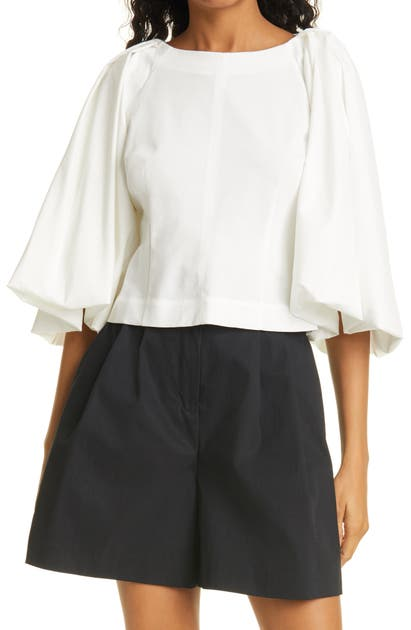 Rebecca Taylor BALLOON SLEEVE TOP