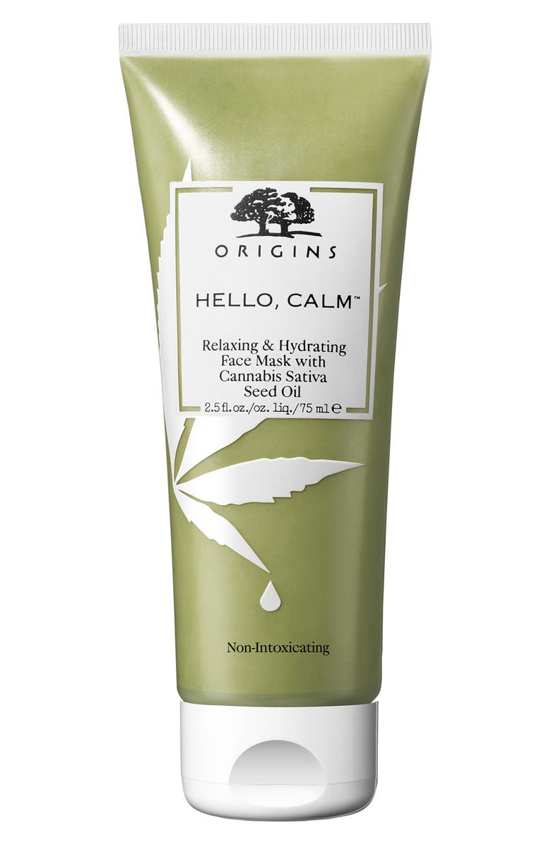 ORIGINS Hello, Calm<sup>™</sup> Relaxing & Hydrating Face Mask with Cannabis Sativa Seed Oil, Main, color, NO COLOR