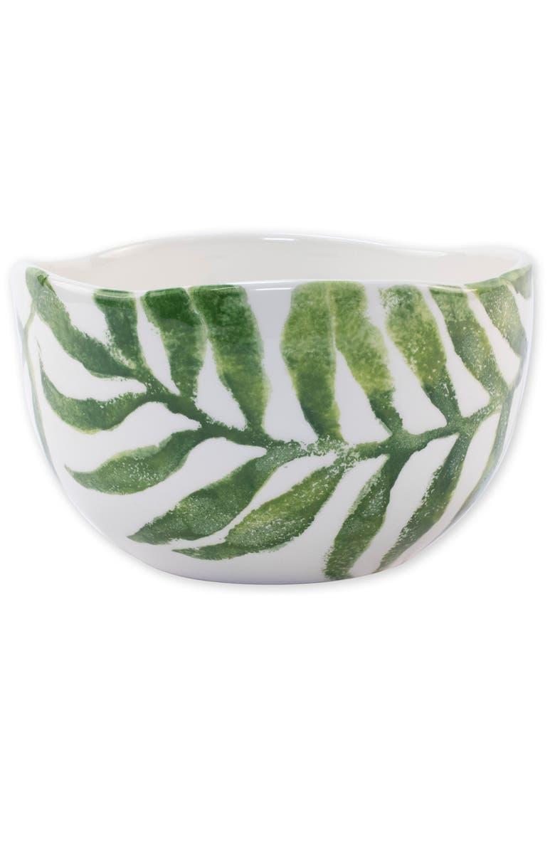 VIETRI Into the Jungle Deep Bowl, Main, color, GREEN