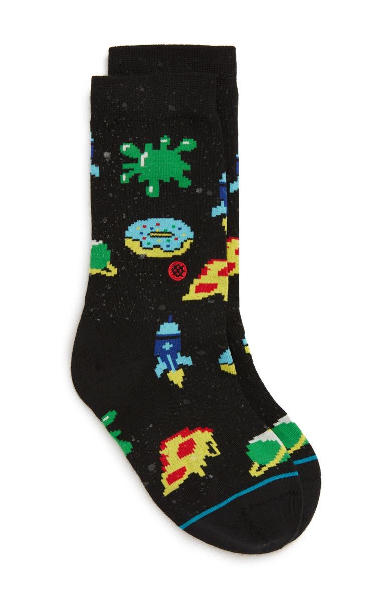 STANCE Astronaut Food Socks, Main, color, BLACK