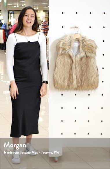 Jackie Faux Fur Vest, sales video thumbnail