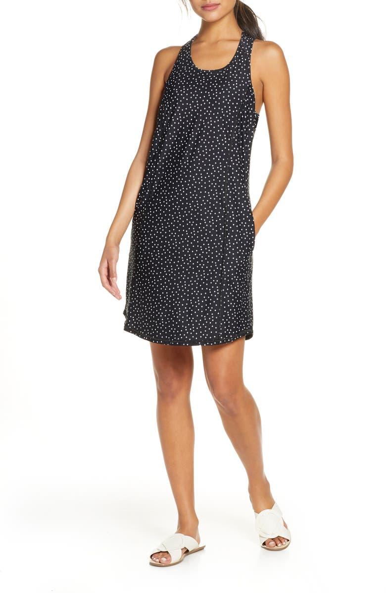 TOMMY BAHAMA IslandActive<sup>®</sup> Dot Racerback Cover-Up Dress, Main, color, 001