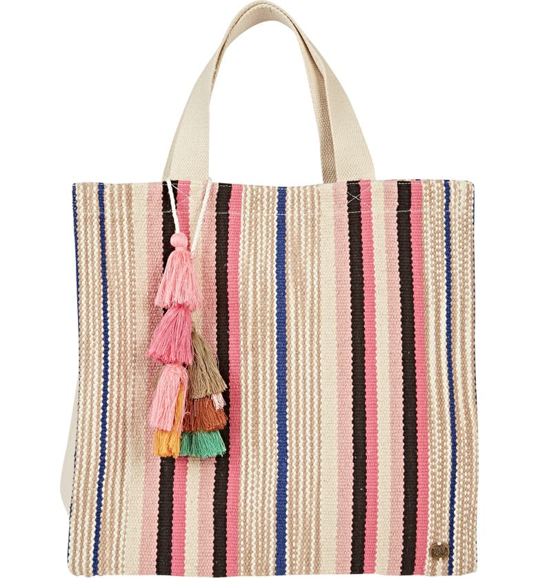 BILLABONG Sweet Sun Woven Tote, Main, color, WHITE CAP