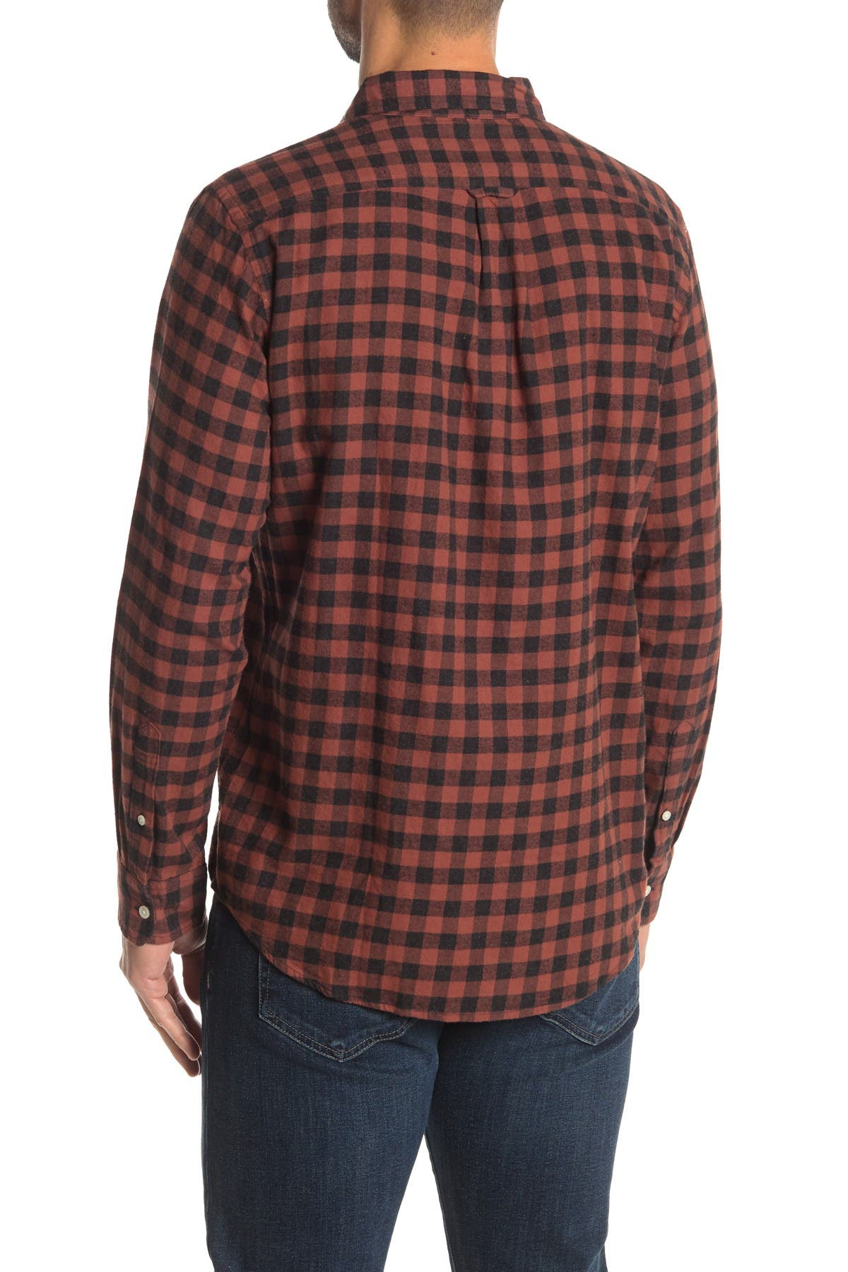Image of Joe Fresh Gingham Print Medium Weight Flannel Shirt