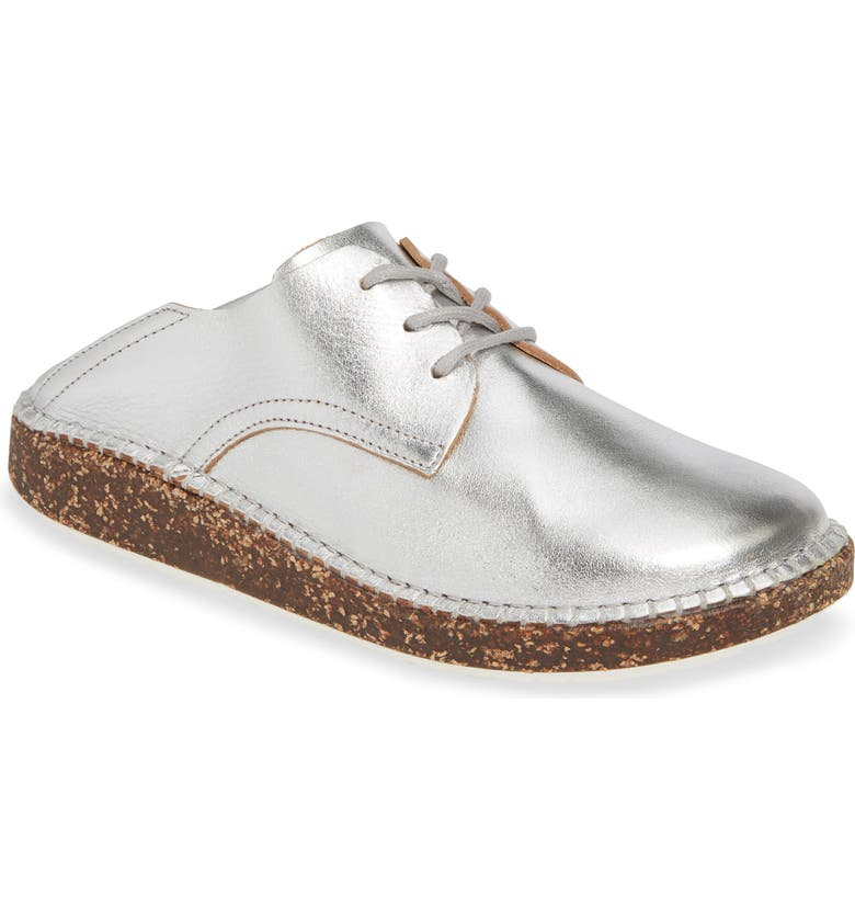 BIRKENSTOCK Gary Convertible Derby, Main, color, SILVER LEATHER