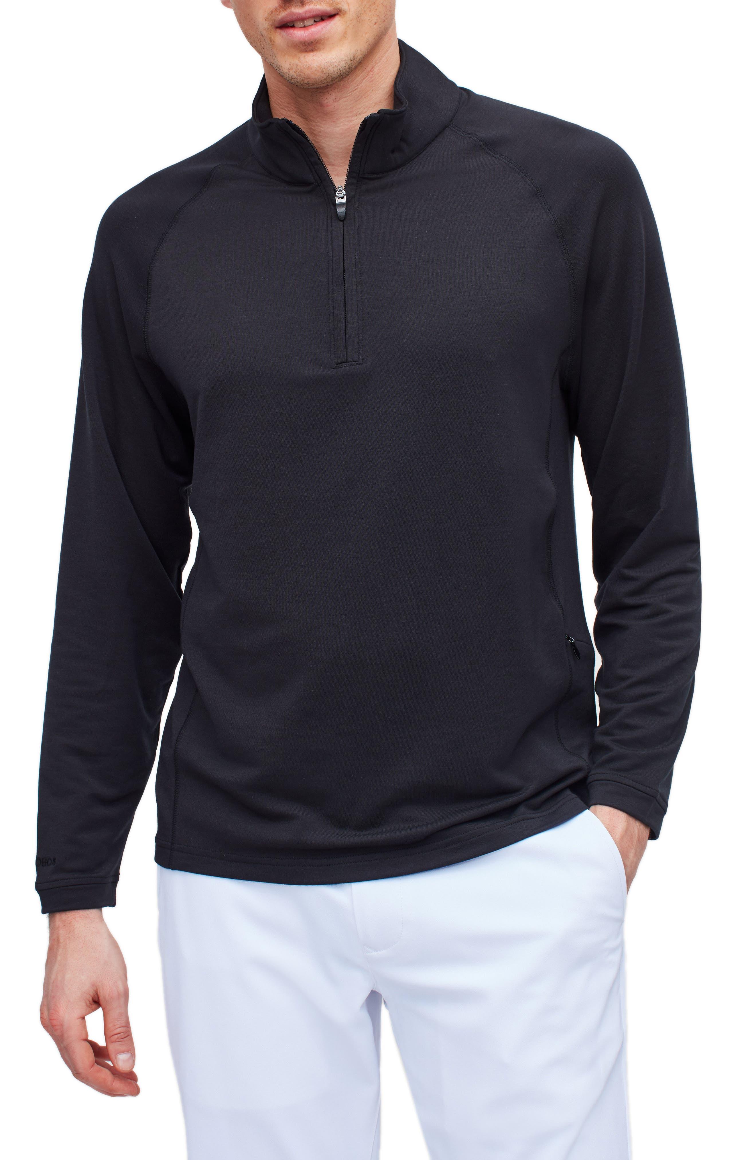 Slim Fit Performance Golf Half Zip Pullover