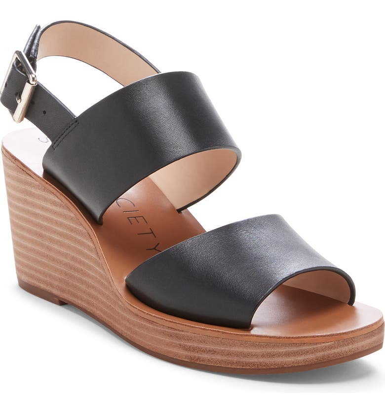 SOLE SOCIETY Pavlina Platform Wedge Sandal, Main, color, 001