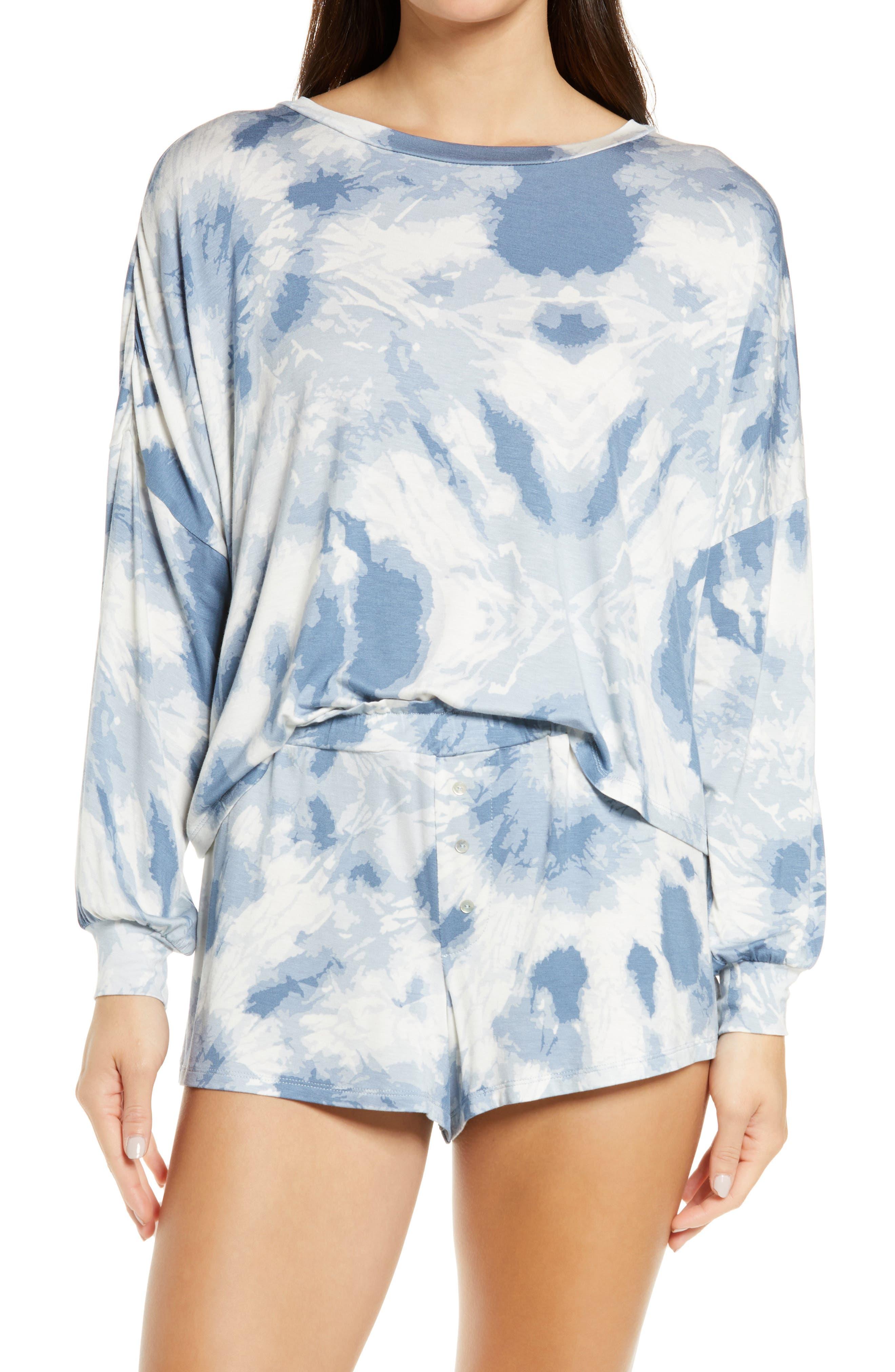 All American Long Sleeve Shortie Pajamas