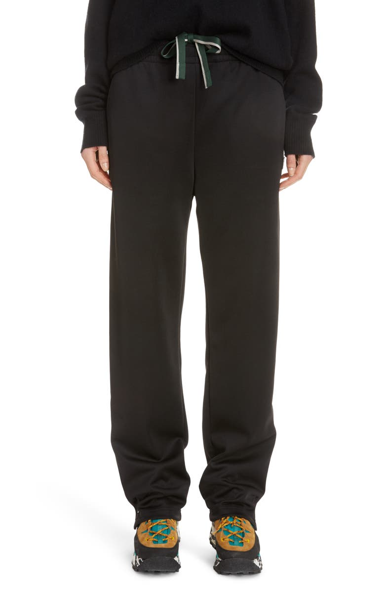 ACNE STUDIOS Emmett Face Drawstring Pants, Main, color, BLACK