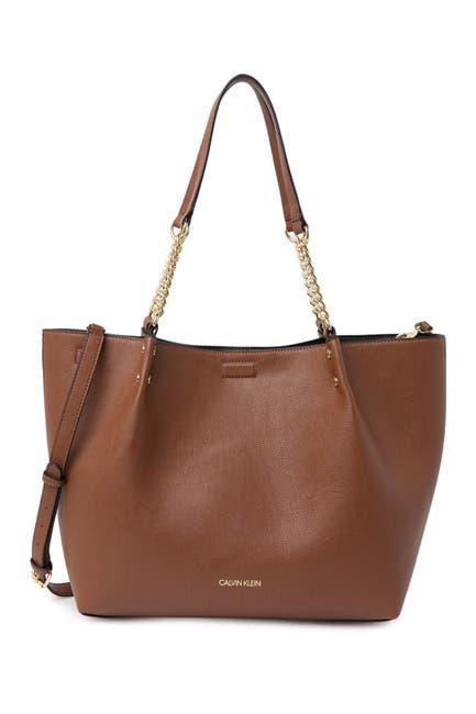 Image of Calvin Klein Novelty Logo Tote Bag