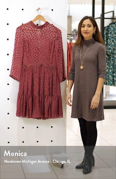 Velvet Dot Ruffle Hem Dress, sales video thumbnail