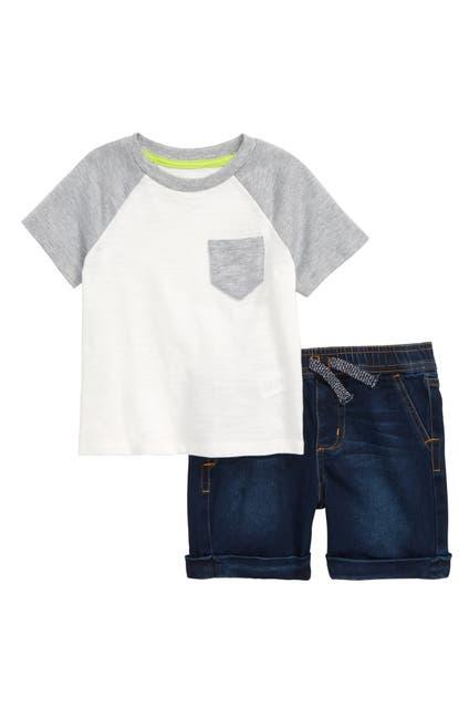 Image of Joe's Jeans Short Sleeve Raglan Tee & Shorts Set