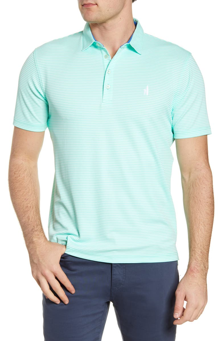 JOHNNIE-O Merrins Hangin' Out Stripe Performance Polo, Main, color, MINT