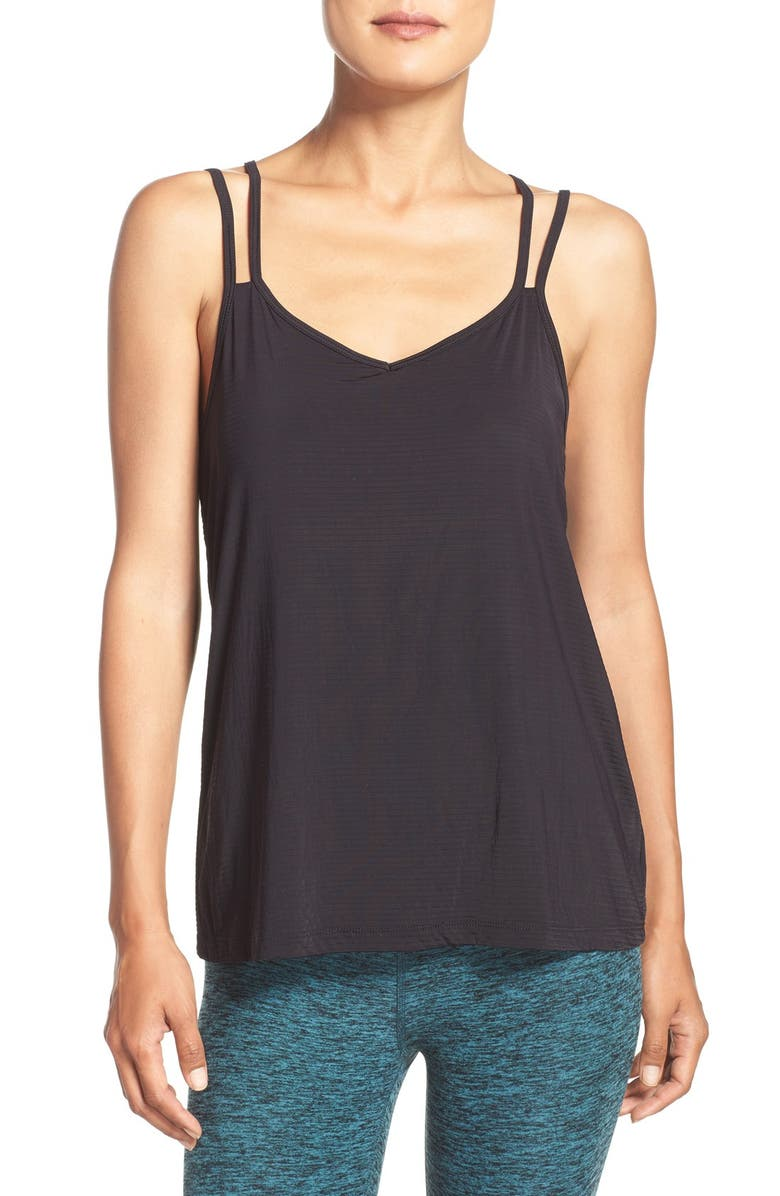 BEYOND YOGA Strappy Back Camisole, Main, color, 001
