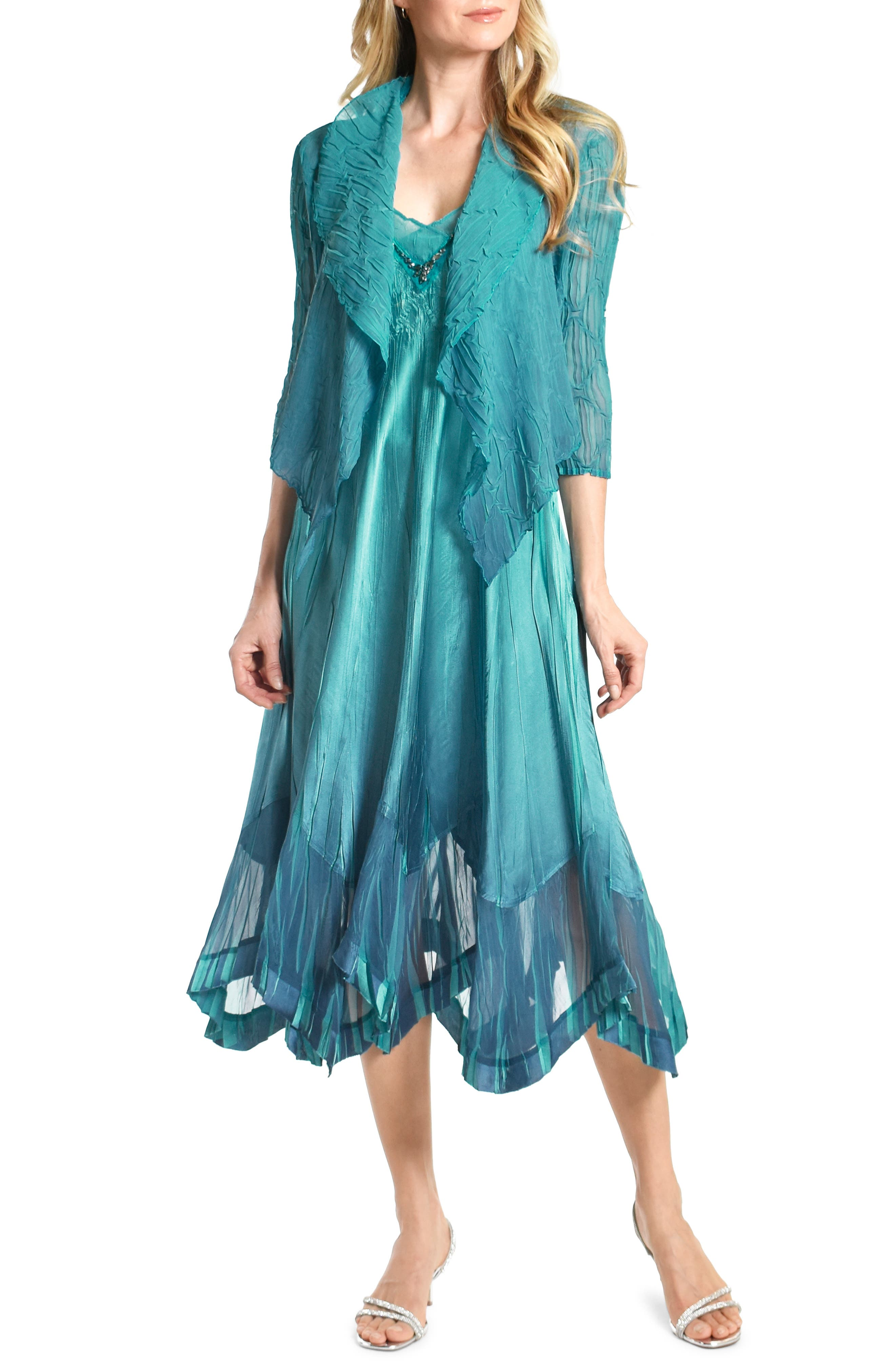Embellished Midi Dress With Jacket