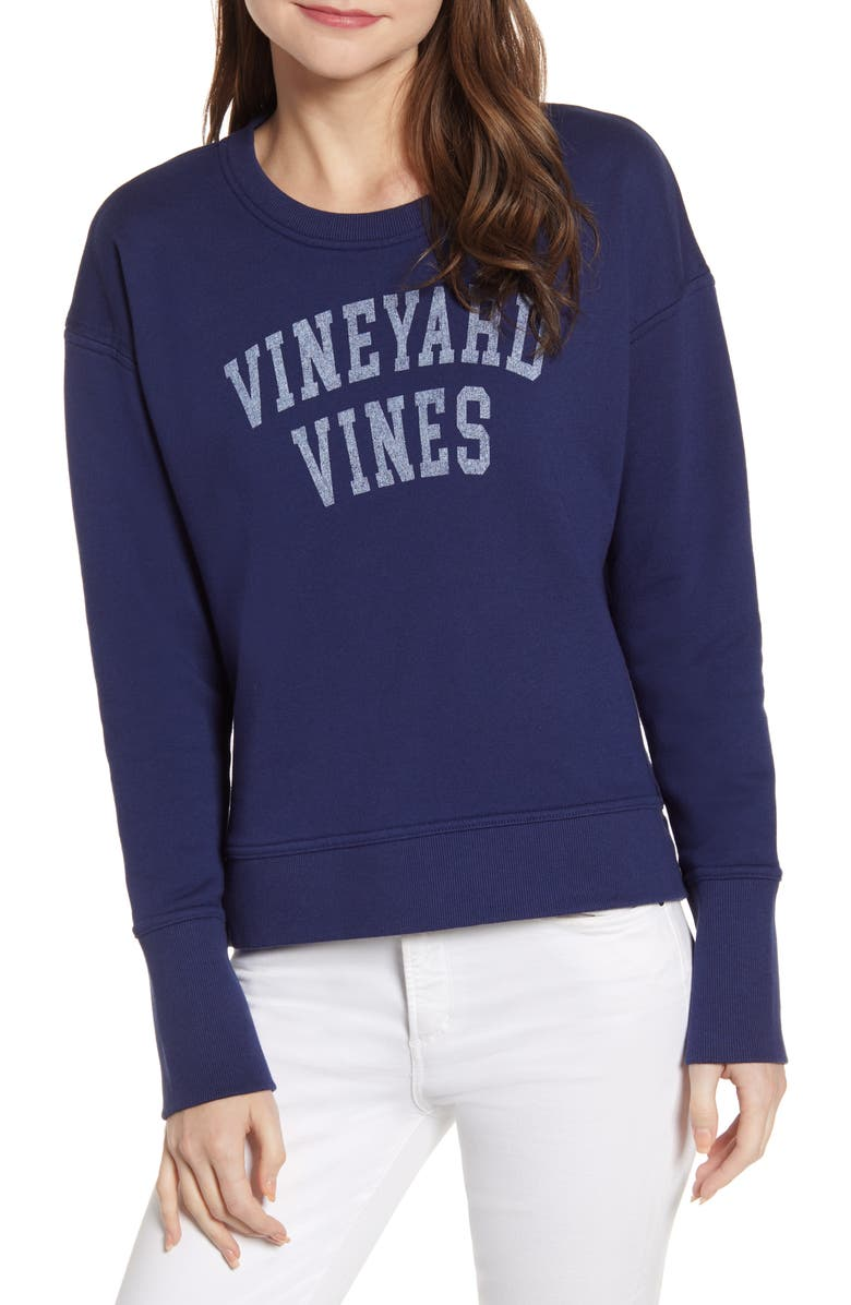 VINEYARD VINES Logo Cotton Blend Sweatshirt, Main, color, 476