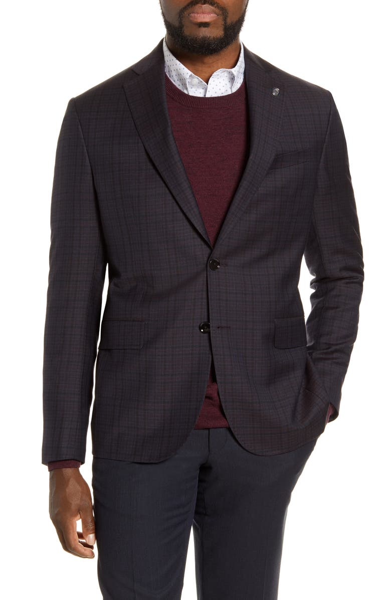 TED BAKER LONDON Ralph Slim Fit Check Wool Sport Coat, Main, color, 930