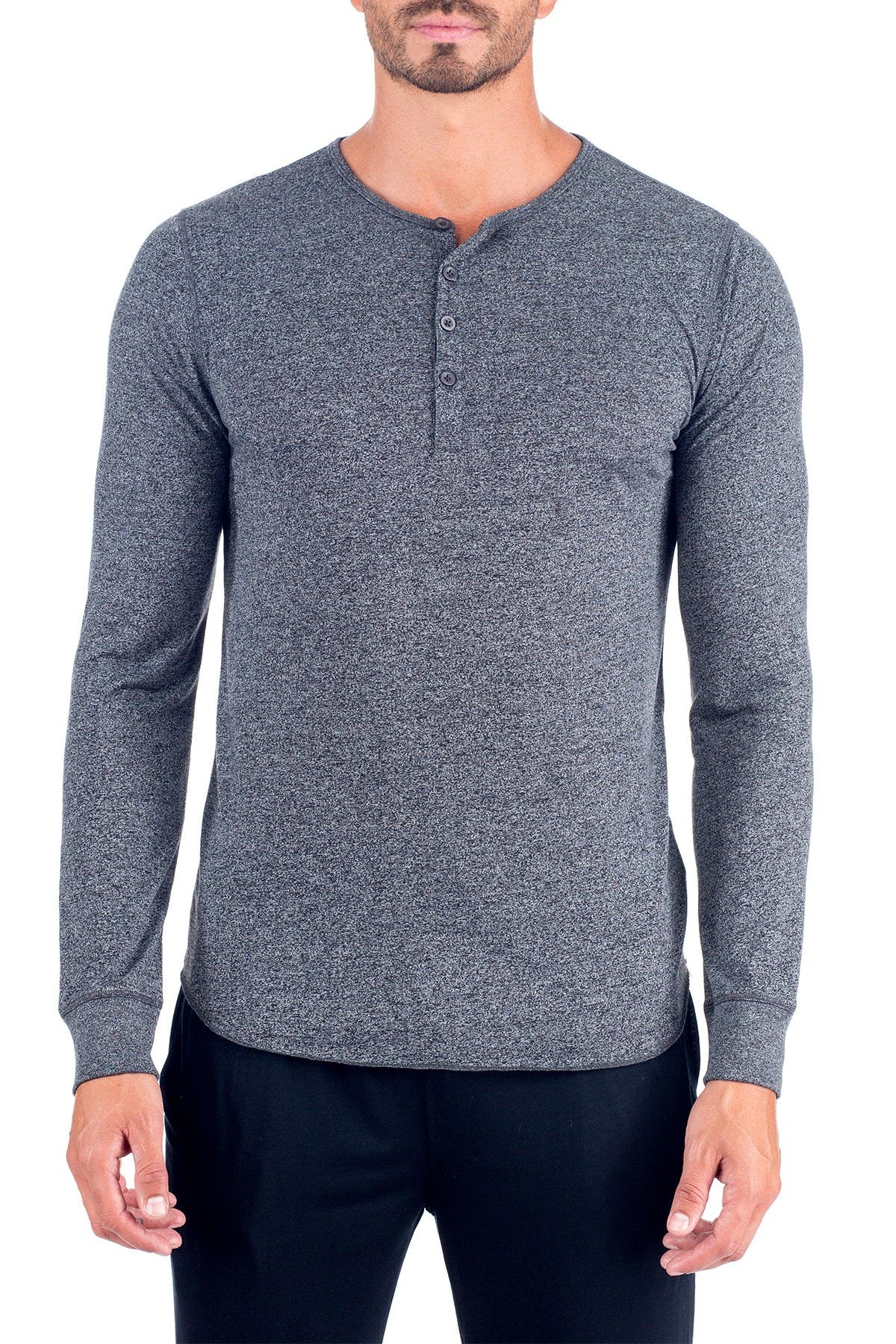 Image of Unsimply Stitched Super Soft Long Sleeve Lounge Henley