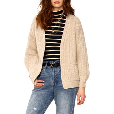 Heartloom Lilah Cable Knit Cardigan, Beige