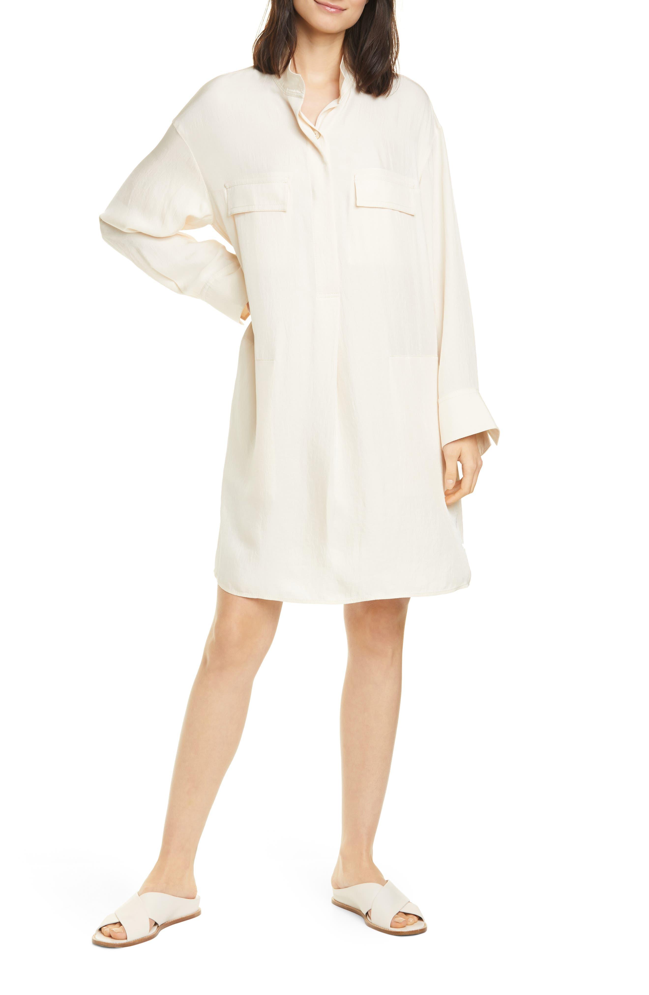Image of Vince Utility Long Sleeve Shirtdress