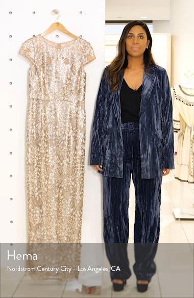 Sequin Popover Column Gown, sales video thumbnail