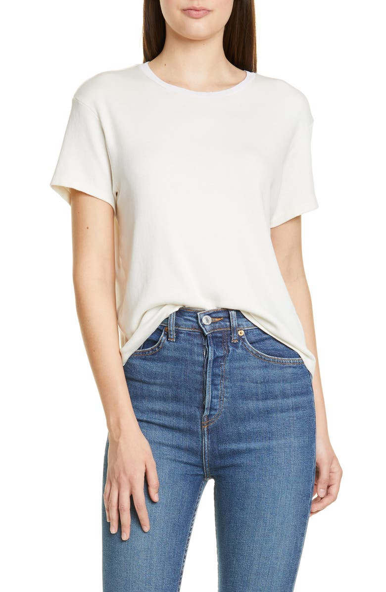 RE/DONE '70s Oversize Tee, Main, color, VINTAGE WHITE