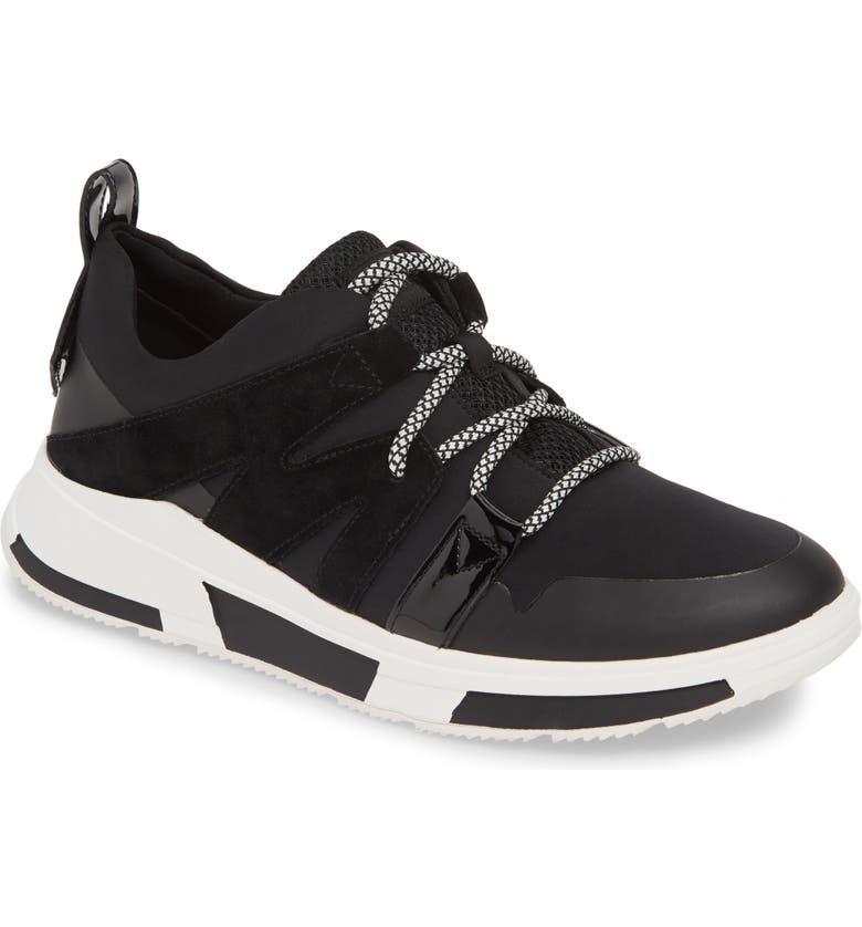 FITFLOP Carita Sneaker, Main, color, BLACK FABRIC