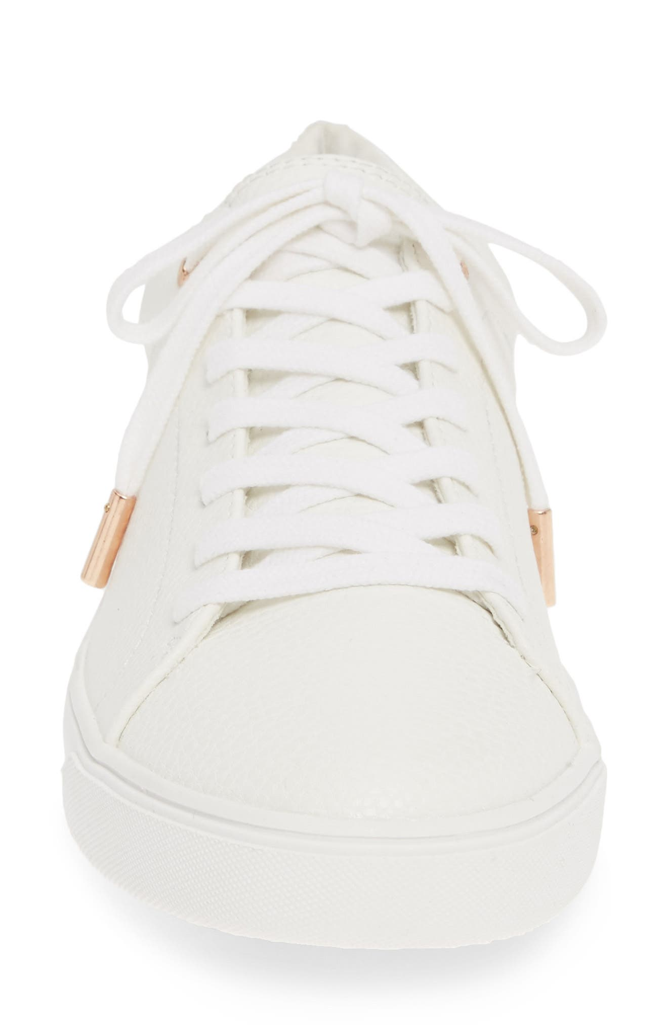 ,                             Curly Low Top Sneaker,                             Alternate thumbnail 4, color,                             WHITE