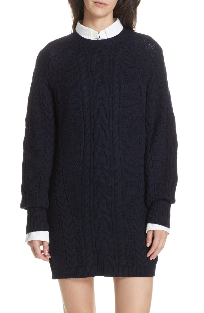 POLO RALPH LAUREN Cable Sweater Dress, Main, color, 410